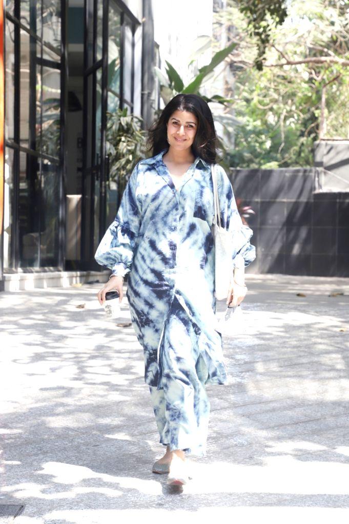 Nimrat kaur snapped in Bandra, Mumbai on Wednesday 03rd March, 2021.