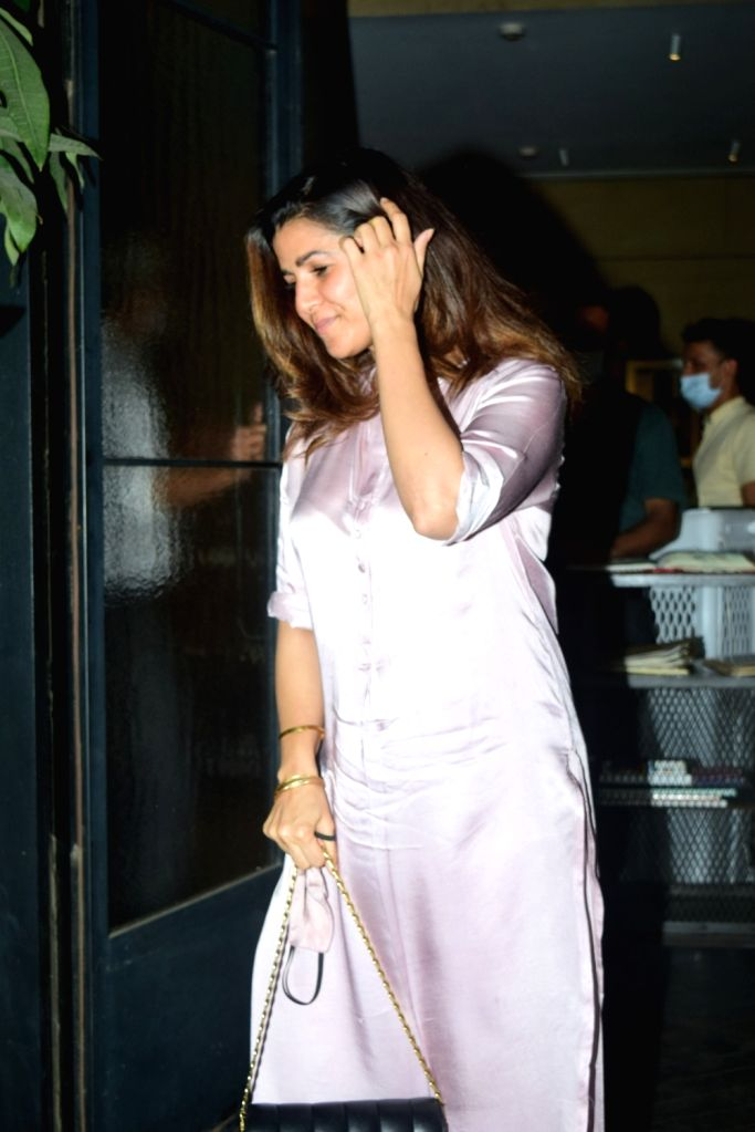 Nimrat Kaur Spotted Pali Village Cafe In Bandra on Monday 22nd February 2021.