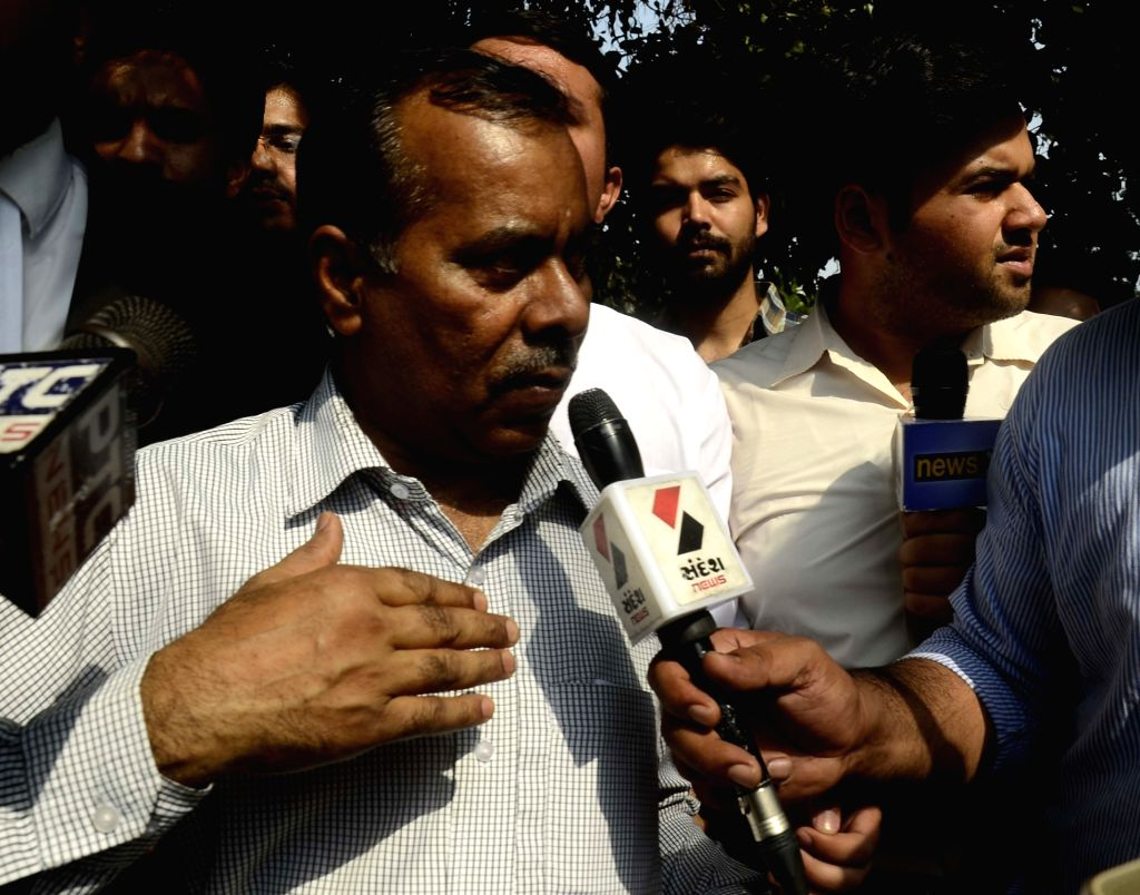 Nirbhaya's father Badri Singh talks to press after Supreme Court upheld the death sentence on all four convicts in the brutal Nirbhaya gang-rape of December 2012 that led to her death and ... - Badri Singh