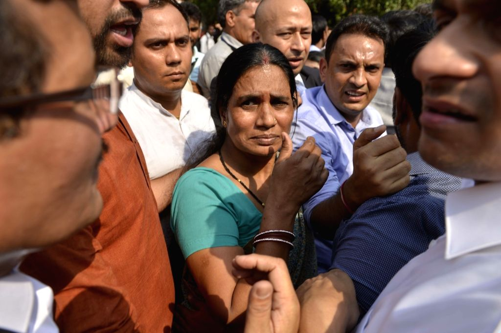 Nirbhaya's mother Asha Devi after Supreme Court upheld the death sentence on all four convicts in the brutal Nirbhaya gang-rape of December 2012 that led to her death and caused national ...