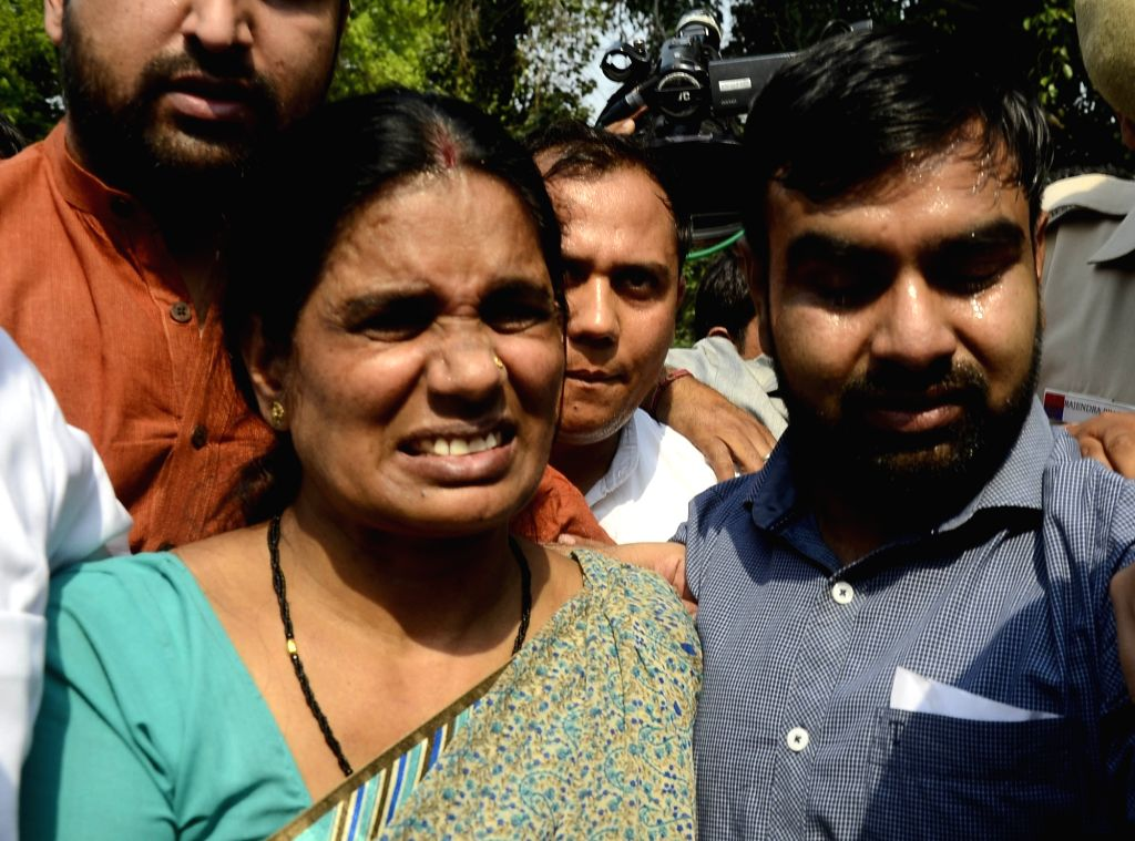 Nirbhaya's mother Asha Devi talks to press after Supreme Court upheld the death sentence on all four convicts in the brutal Nirbhaya gang-rape of December 2012 that led to her death and ...