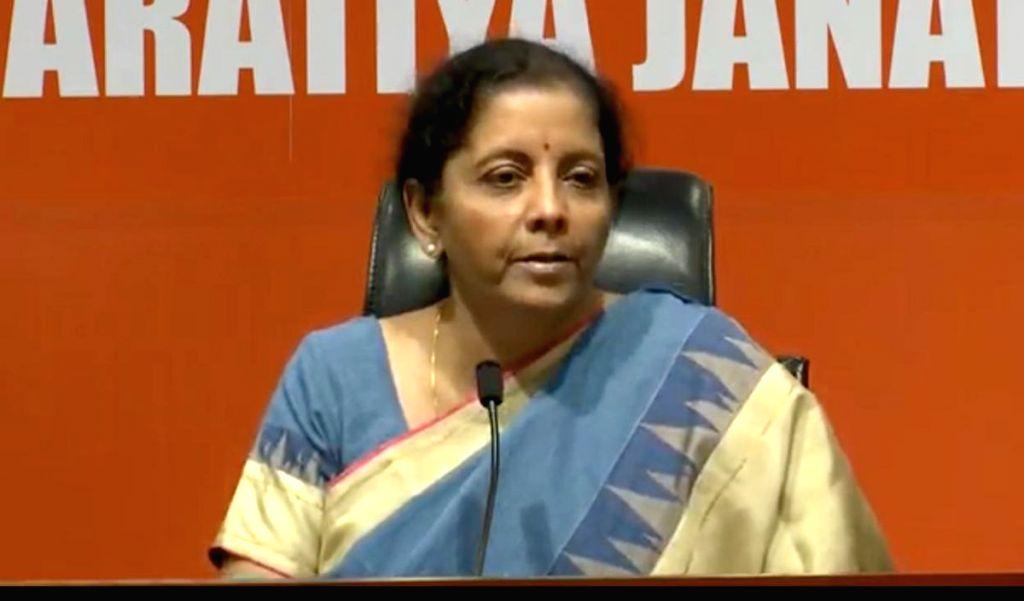 Nirmala Sitharaman. (Photo: IANS)