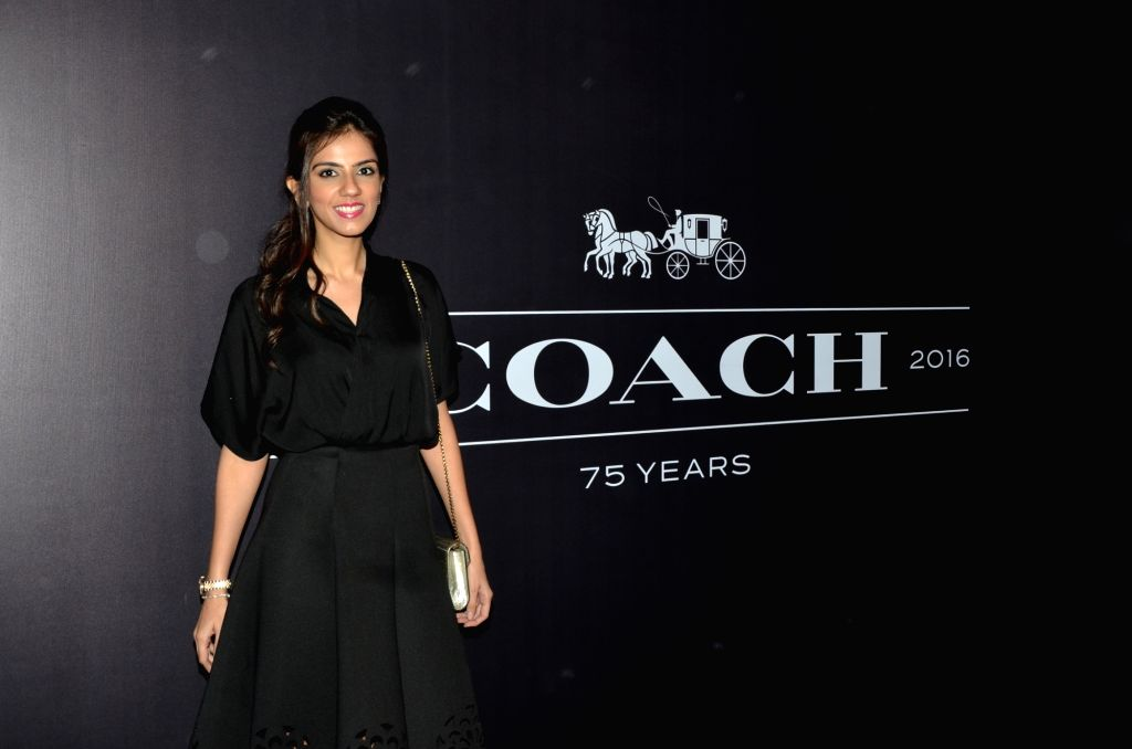 Nishka Lulla during the Coach launch celebrations in Mumbai, on Aug 4, 2016. Coach celebrates  the launch of its first store in India.