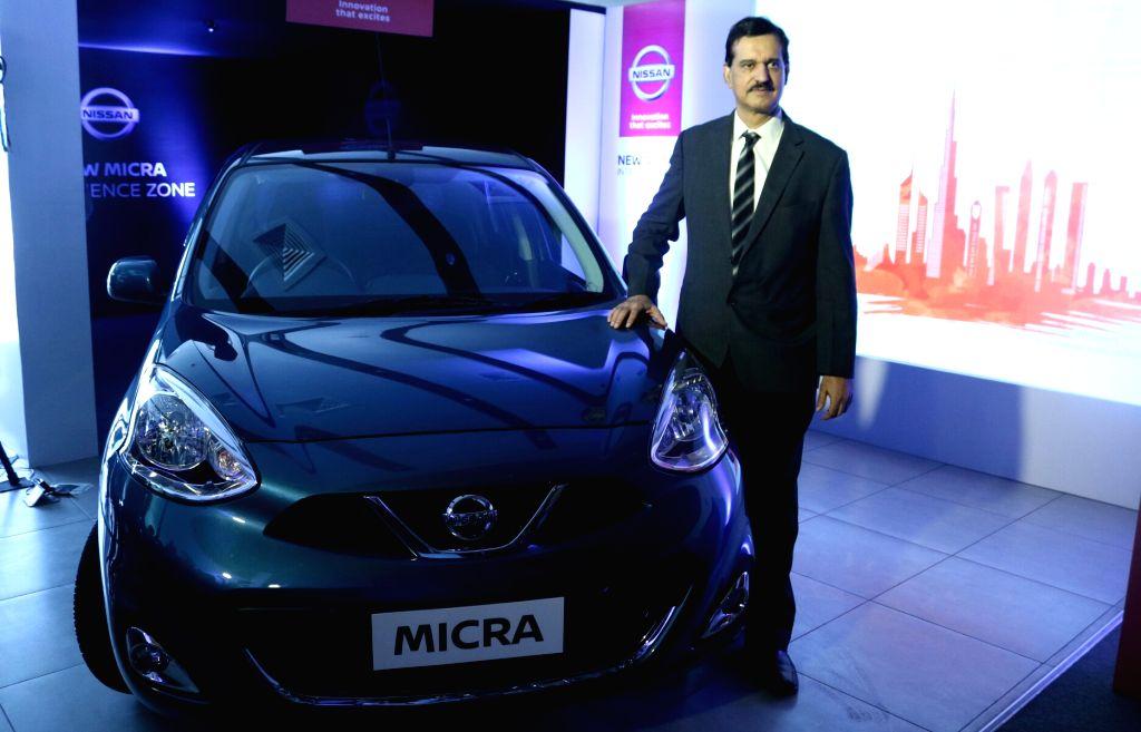 Nissan India MD Arun Malhotra launches the New Micra in Noida, on June 2, 2017. - Arun Malhotra