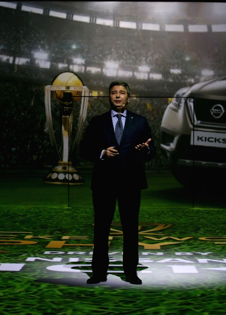 Nissan India President Thomas Kuehl addresses at the launch of Nissan Kicks SUV in New Delhi, on Jan 22, 2019.