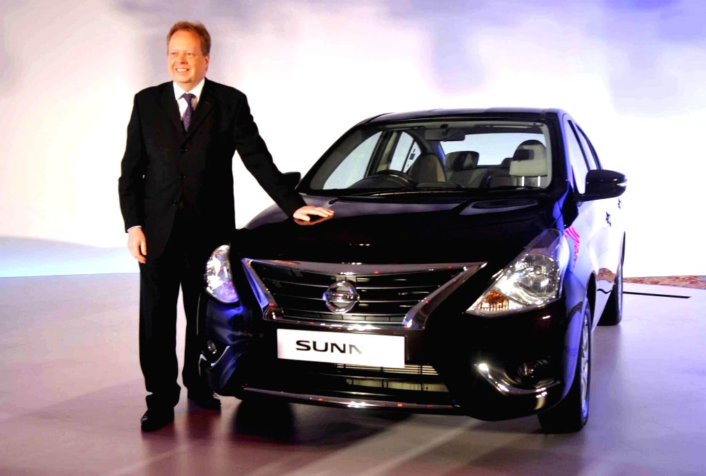 Nissan Motor Co., Ltd, Chief Planning Officer, Andy Palmer at the launch of new Sunny in Mumbai on July 3, 2014.