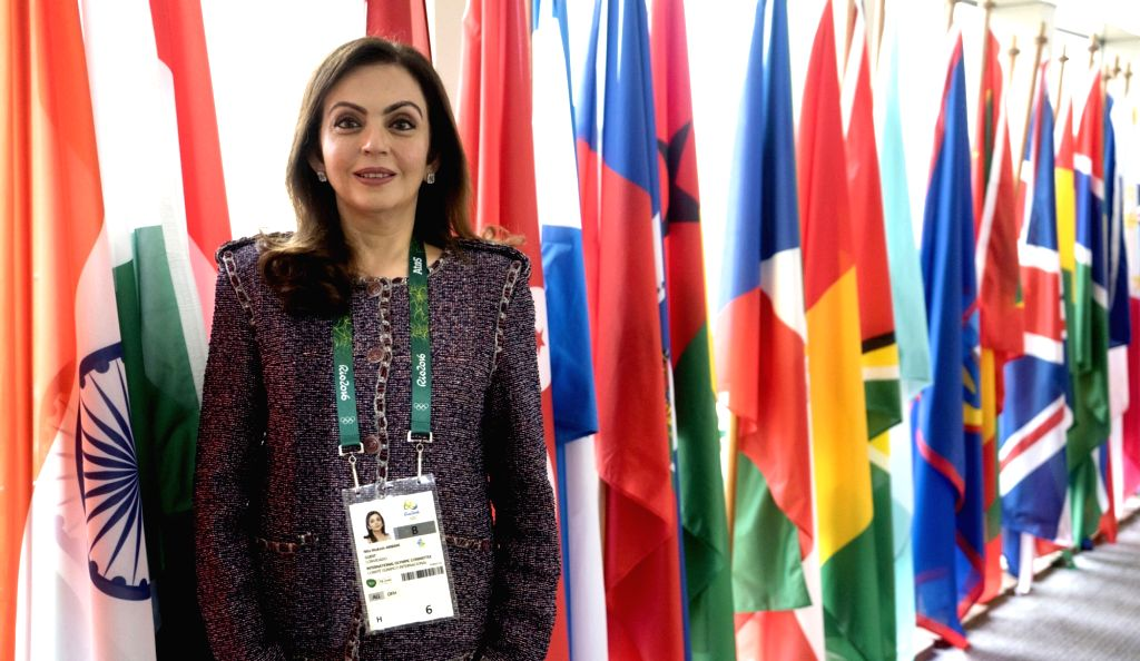 Nita Ambani, who got elected at Rio and to become the first Indian woman in the International Olympic Committee. - Nita Ambani