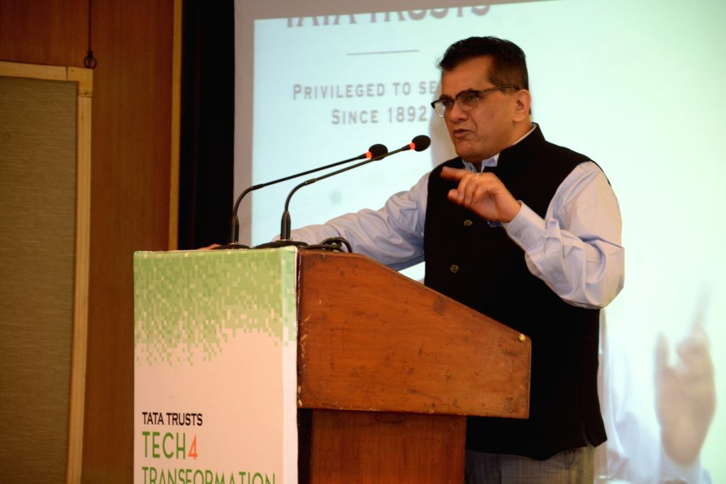 NITI Aayog CEO Amitabh Kant addresses during Tata Trusts' Tech4Transofrmation conclave in New Delhi on June 20, 2017.