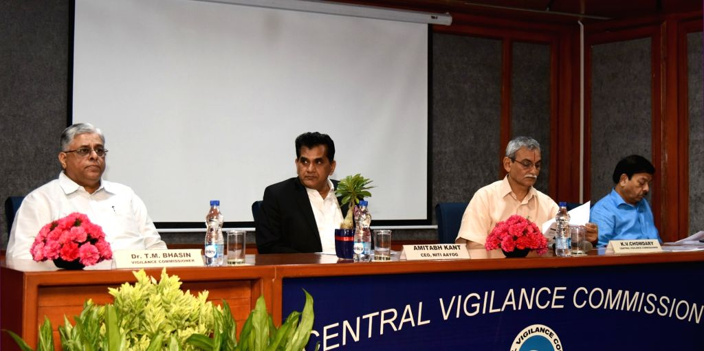 """NITI Aayog CEO Amitabh Kant delivers the 33rd lecture of the """"Lecture Series"""", organised by the Central Vigilance Commission (CVC) on the topic """"Transformation of ..."""