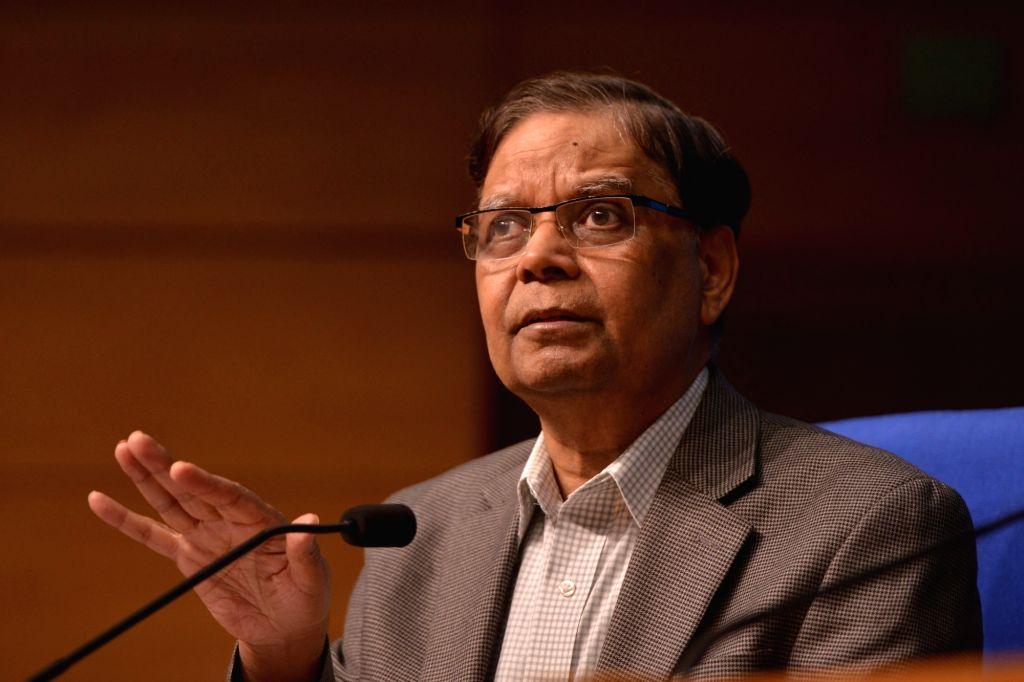 NITI Aayog vice-chairman Arvind Panagariya addresses a press conference in New Delhi on June 2, 2017.
