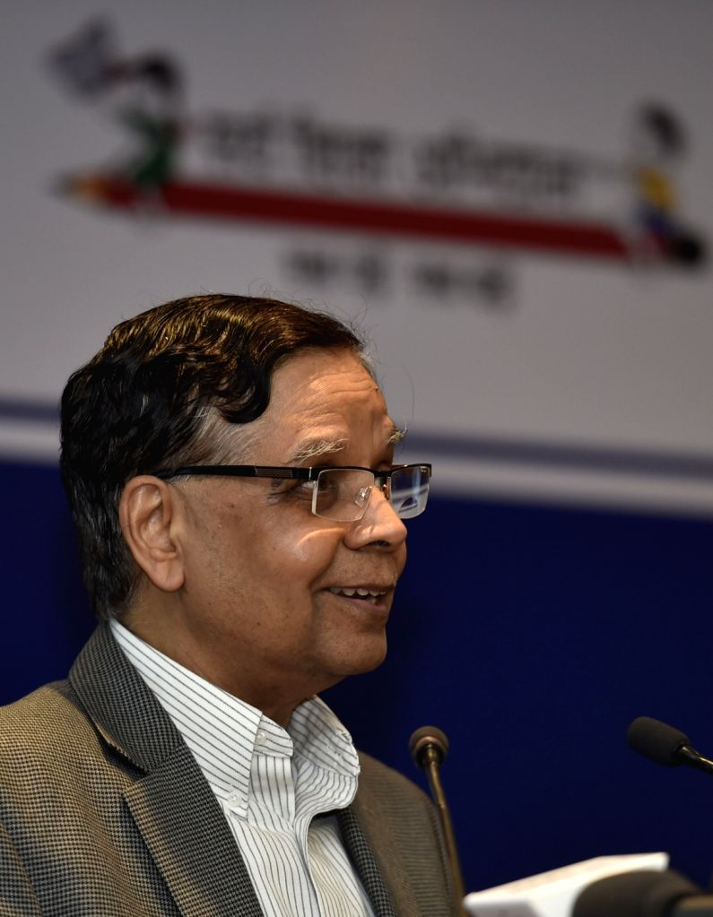 NITI Aayog Vice Chairman  Dr. Arvind Panagariya addresses at the National Conference on Good Practices in the Social Sector Service Delivery, in New Delhi on May 23, 2016.