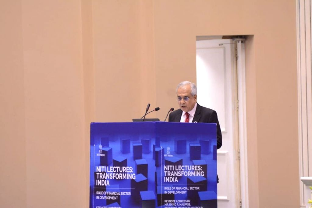 NITI Aayog Vice Chairman Rajiv Kumar addresses during the 5th edition of NITI Lecture series, in New Delhi on Oct 26, 2019. - Rajiv Kumar