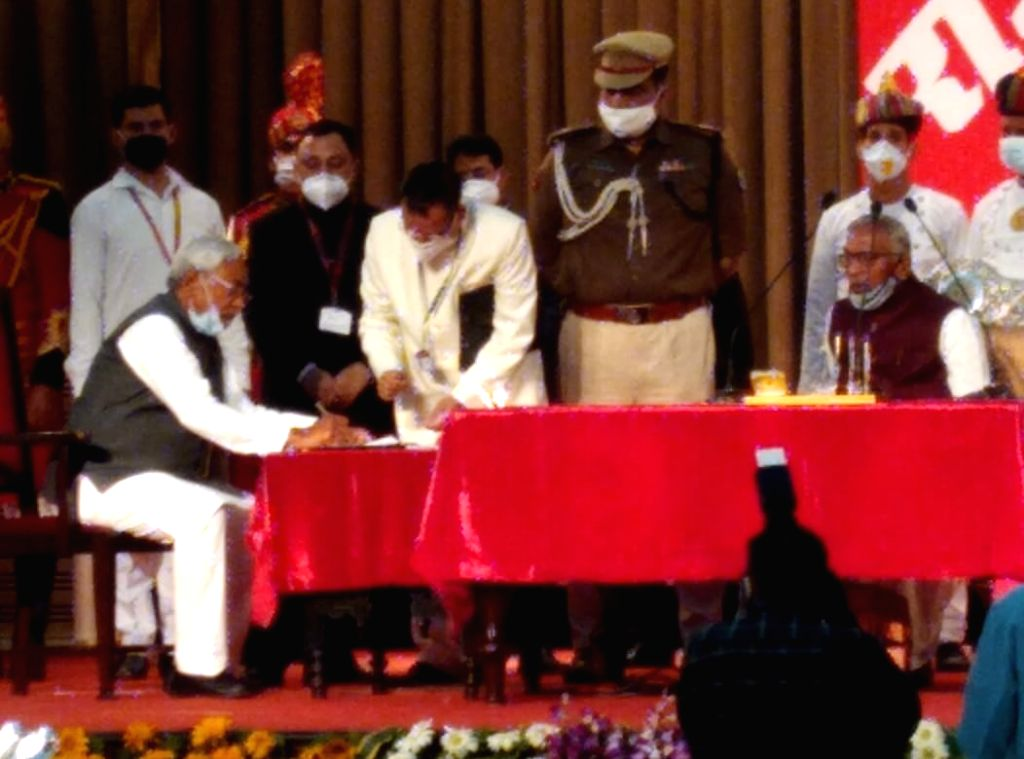 Nitish Kumar sworn in as Bihar Chief Minister. - Nitish Kumar