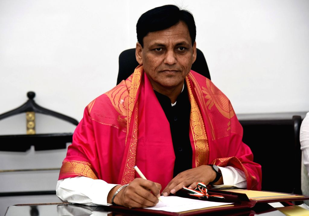 Nityanand Rai takes charge as the Minister of State for Home Affairs, in New Delhi on June 1, 2019. - Nityanand Rai