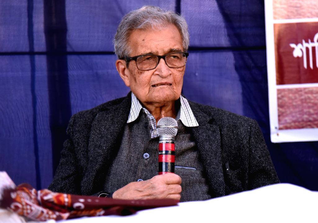 Nobel laureate Amartya Sen during a programme in West Bengal's Santiniketan on Feb 15, 2019.