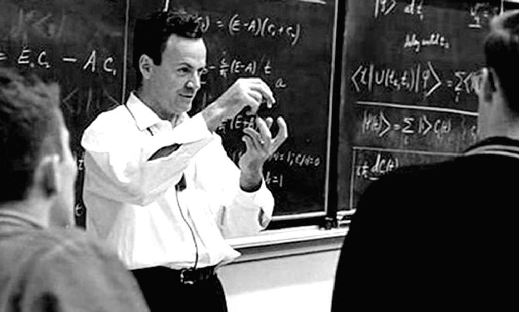 Nobel Prize winning physicist Richard P Feynman who was also a born practical joker