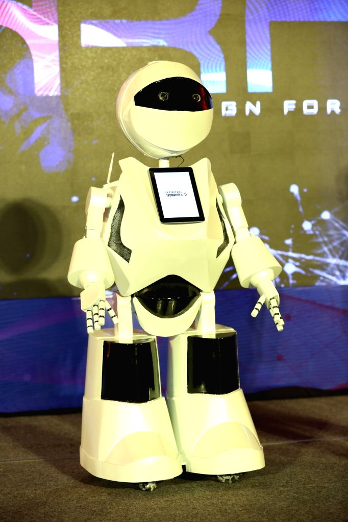 Noida: Tech Mahindra Ltd introduced K2, the first Human Resource (HR) Humanoid, for its Noida Special Economic Zone Campus, in Noida on June 24, 2019. (Photo: IANS)