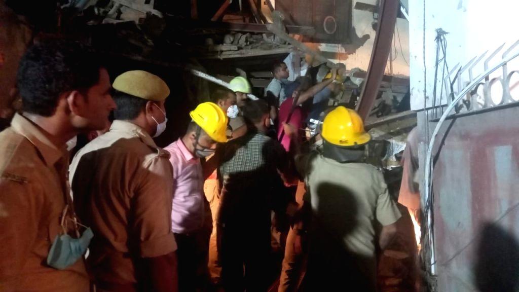 Noida: Under construction multi-storey building collapses, rescue team evacuates 4 people