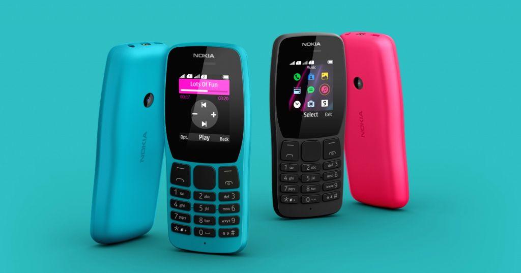 Nokia 110 feature phone.