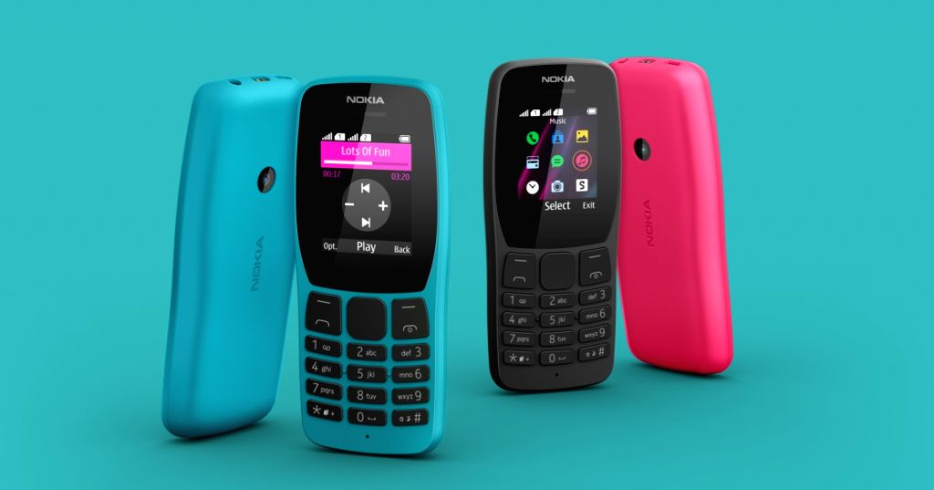 Nokia 110 feature phone.