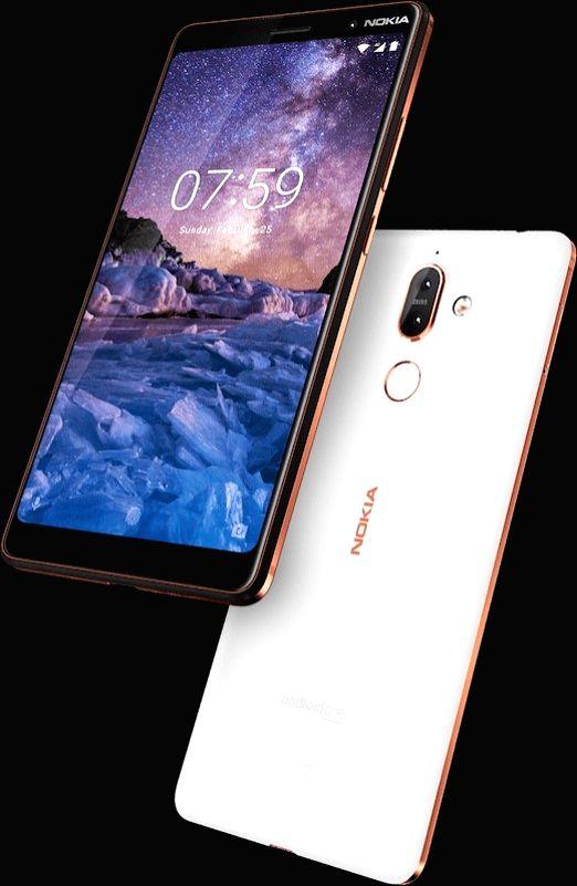 Nokia 7 plus smartphone.