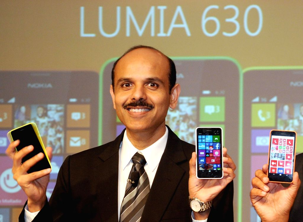 Nokia India Managing Director P. Balaji during launch of Lumia 630 in New Delhi on May 12, 2014.