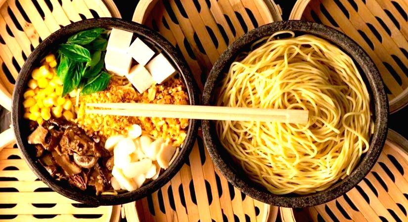Noodle bowls at Yum Yum Cha.
