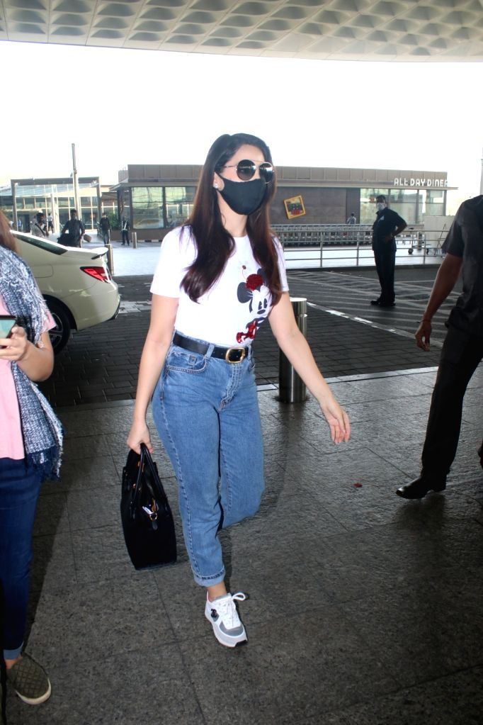 Nora Fatehi Spotted at Airport Departure on Friday 26th February 2021.