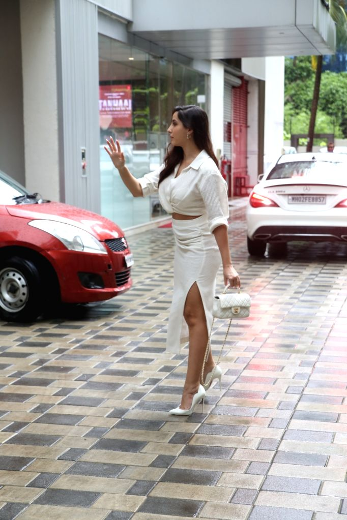Nora fatehi spotted at T series Andheri on Thursday June 17,2021.