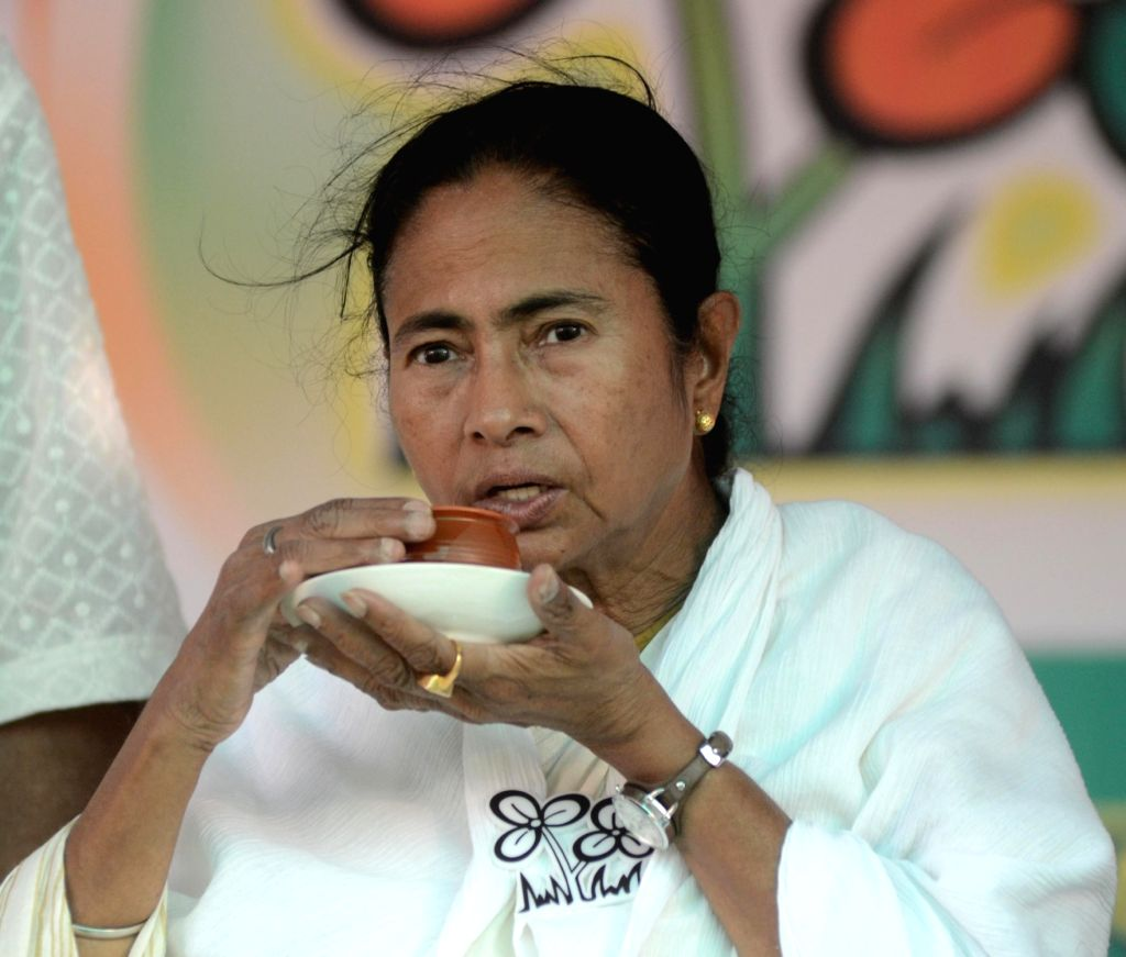 North 24 Parganas: West Bengal Chief Minister and Trinamool Congress supremo Mamata Banerjee during a rally in North 24 Parganas of West Bengal on April 21, 2016. - Mamata Banerjee