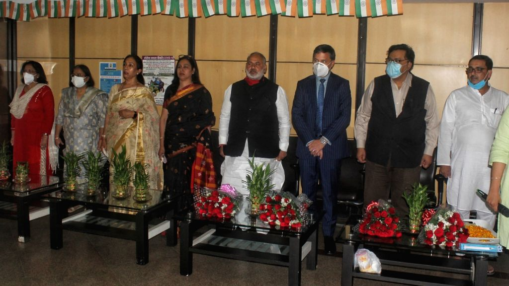 "North Delhi Mayor Jai Prakash and Matthias Radosztics Dy. Head of Mission, Austrian Embassy to inaugurate pictorial exhibition on women empowerment on occasion of ""International Women's ..."