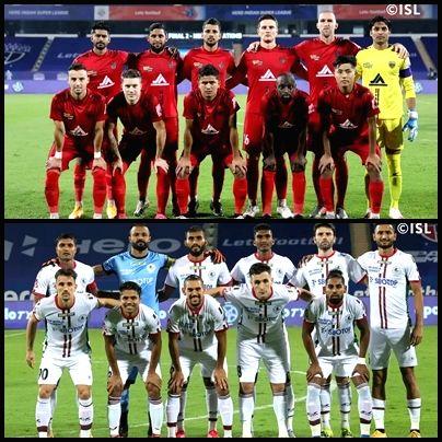 NorthEast United FC vs ATK. (credit : ISL)