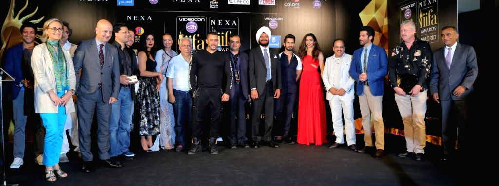 Noted Dignitaries and Friends of IIFA during the IIFA 2016 opening press conference in Madrid on June 23, 2016.