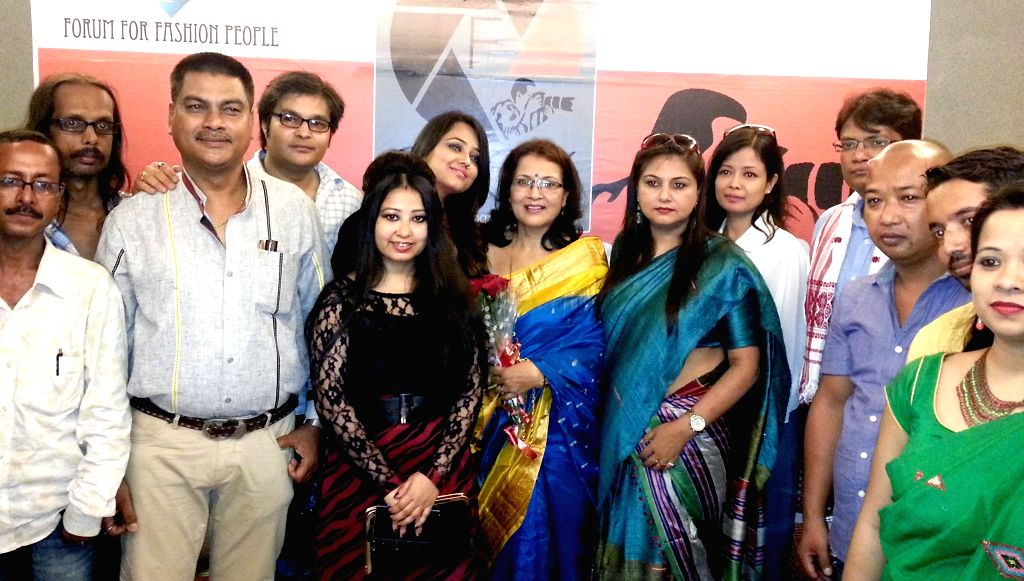 Noted fashion designer Garima Saikia Garg and designer Payal during 1st Fashion Photography Exhibition organised by Forum For Fashion People in Guwahati on Aug 19, 2014.