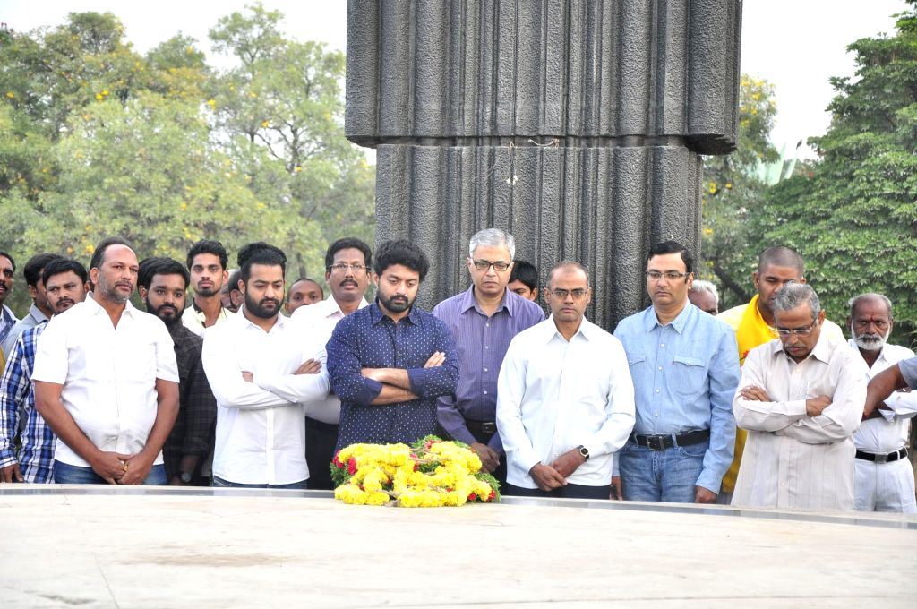 NTR 20th Vardhanthi Stills at NTR Ghat in Hyderabad today (18th Jan).