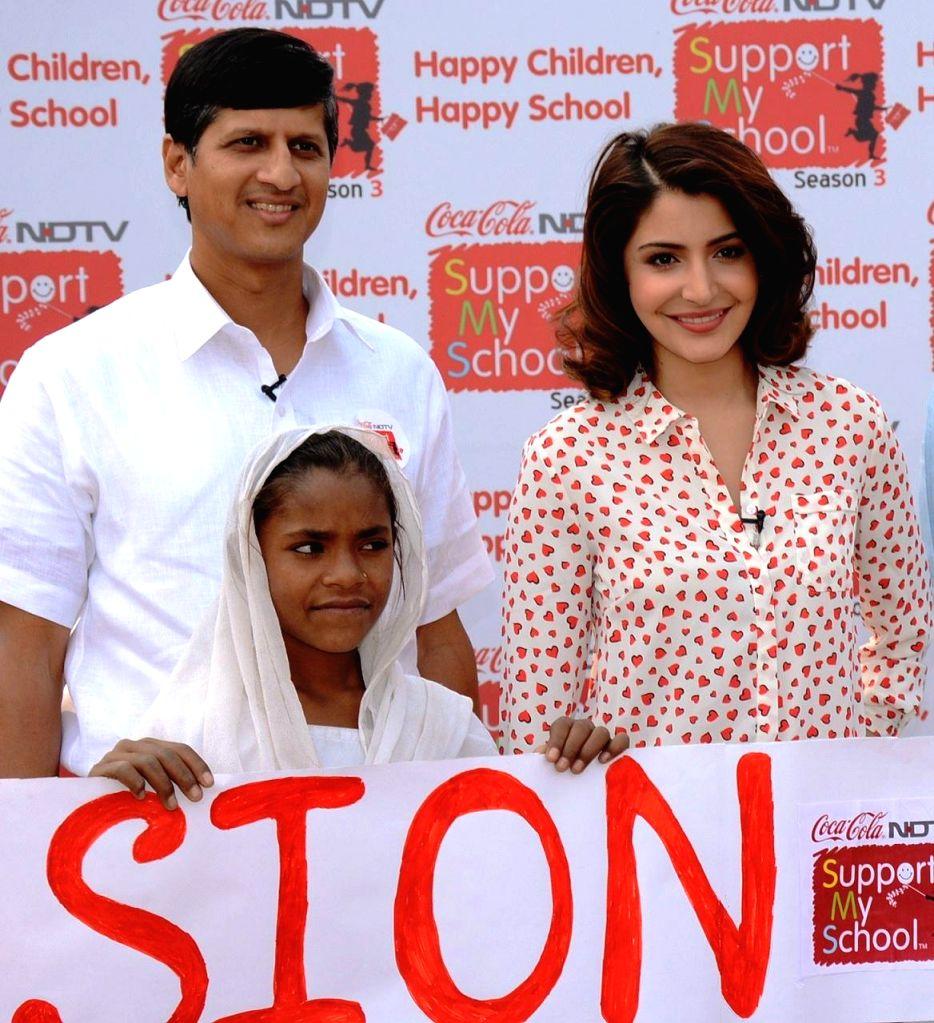 Coca-Cola India & SWA President Venkatesh Kini and actress Anushka Sharma launch Season 3 of Support My School at a government school in Nuh of Haryana .