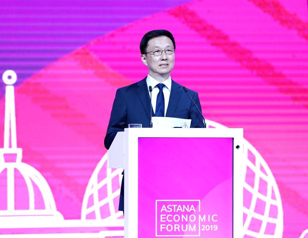 KAZAKHSTAN-NUR-SULTAN-HAN ZHENG-ASTANA ECONOMIC FORUM