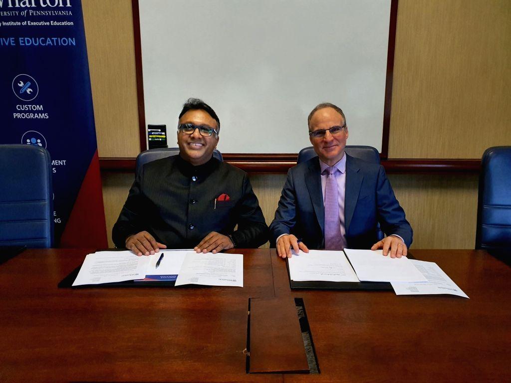 O.P. Jindal Global University (JGU) Founding Vice Chancellor  C. Raj Kumar and David L. Heckman, Senior Director for Global Partnerships at Aresty Institute of Executive Education at the Wharton ... - C. Raj Kumar
