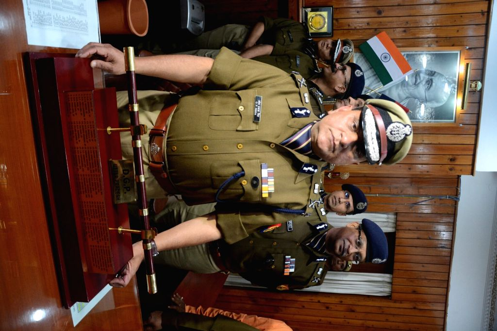 O.P. Singh takes charge as Uttar Pradesh's new Director General of Police (DGP) in Lucknow on Jan 23, 2018. - P. Singh