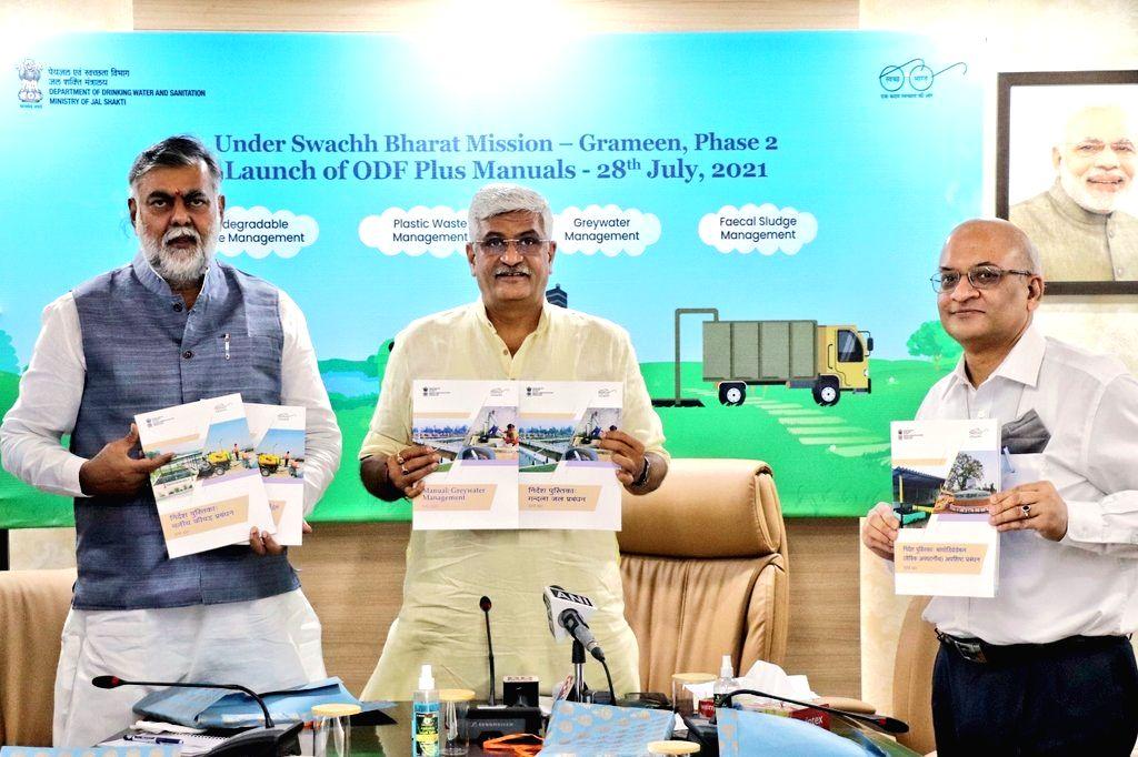 ODF Plus Manuals released under Swachh Bharat Mission II.(photo: Gajendra Singh Shekhawat Twitter)