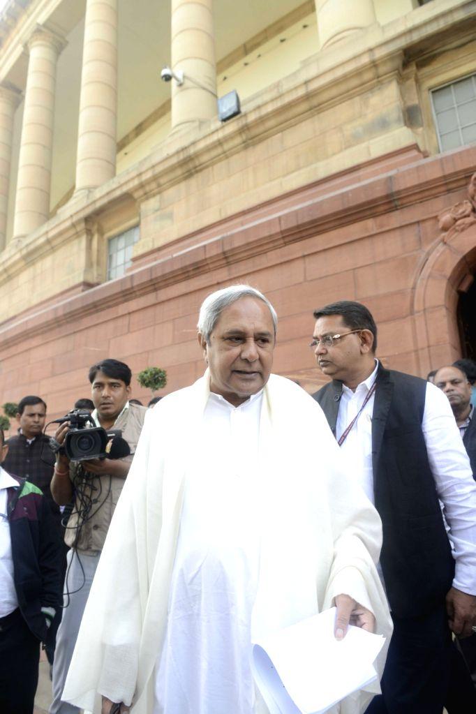 Odisha Chief Minister Naveen Patnaik at the Parliament on Nov 21, 2016. - Naveen Patnaik