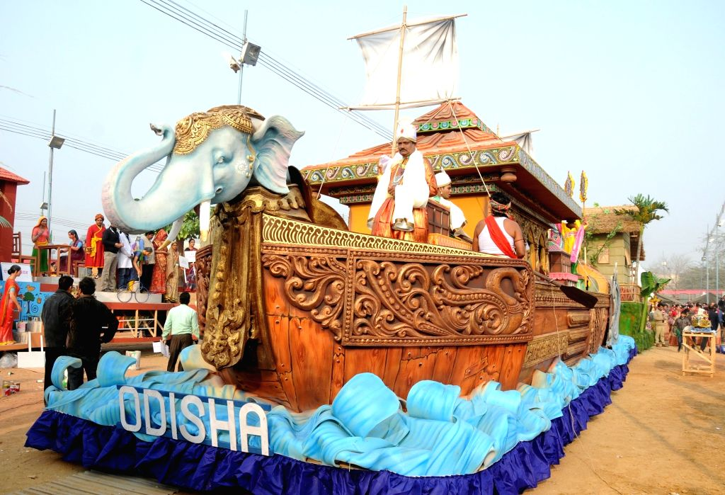 Odisha tableau during Republic Day Parade - preview in New Delhi, on Jan 22, 2016.
