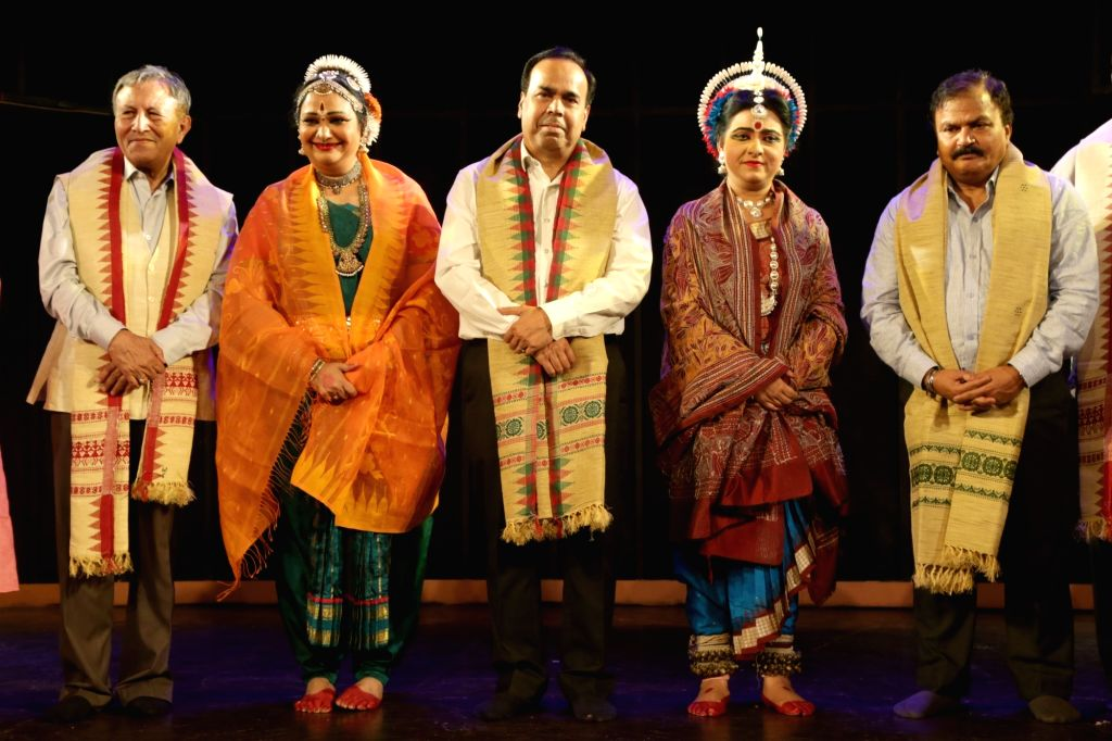 Odissi dancer Dona Ganguly and Bharata Natyam dancer Prathibha Prahlad during a programme in New Delhi on May 17, 2017.