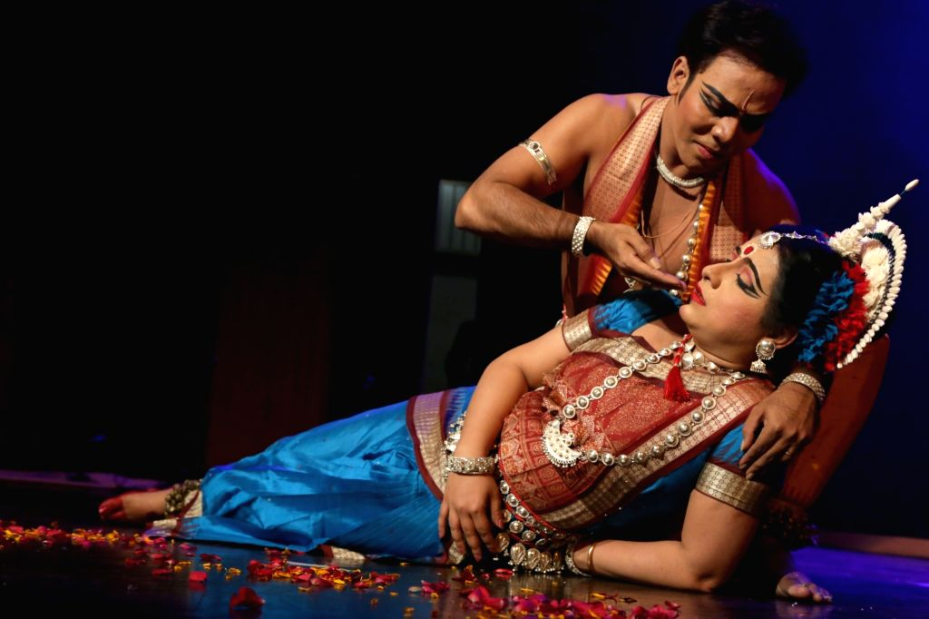 Odissi dancer Dona Ganguly performs during a programme in New Delhi on May 17, 2017.