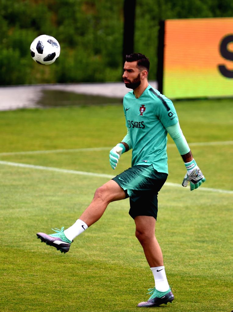 OEIRAS, June 5, 2018 - Portugal's goalkeeper Rui Patriciao attends a training session for 2018 Russia World Cup of Portugal's national soccer team in Oeiras, Portugal, June 5, 2018.
