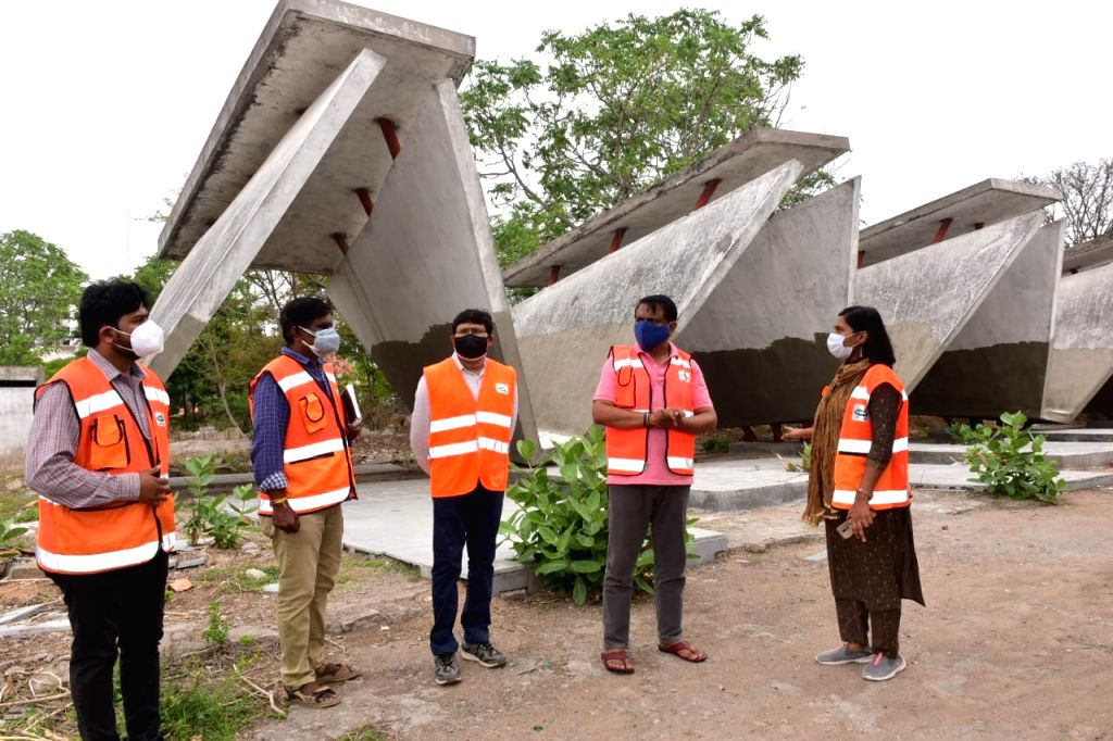 Official visits crematoriums in Hyderabad