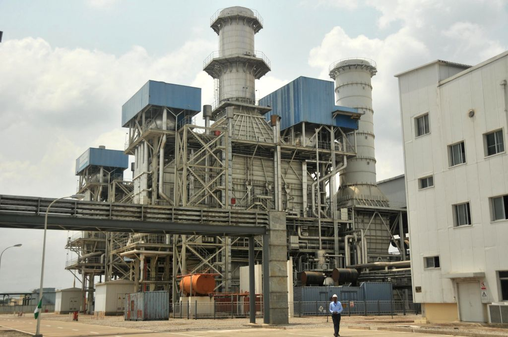 Photo taken on Feb. 20, 2015 shows the 750 megawatt power station in the southwestern Ogun state in Nigeria. Nigerian President Goodluck Jonathan on Friday inaugurated ...