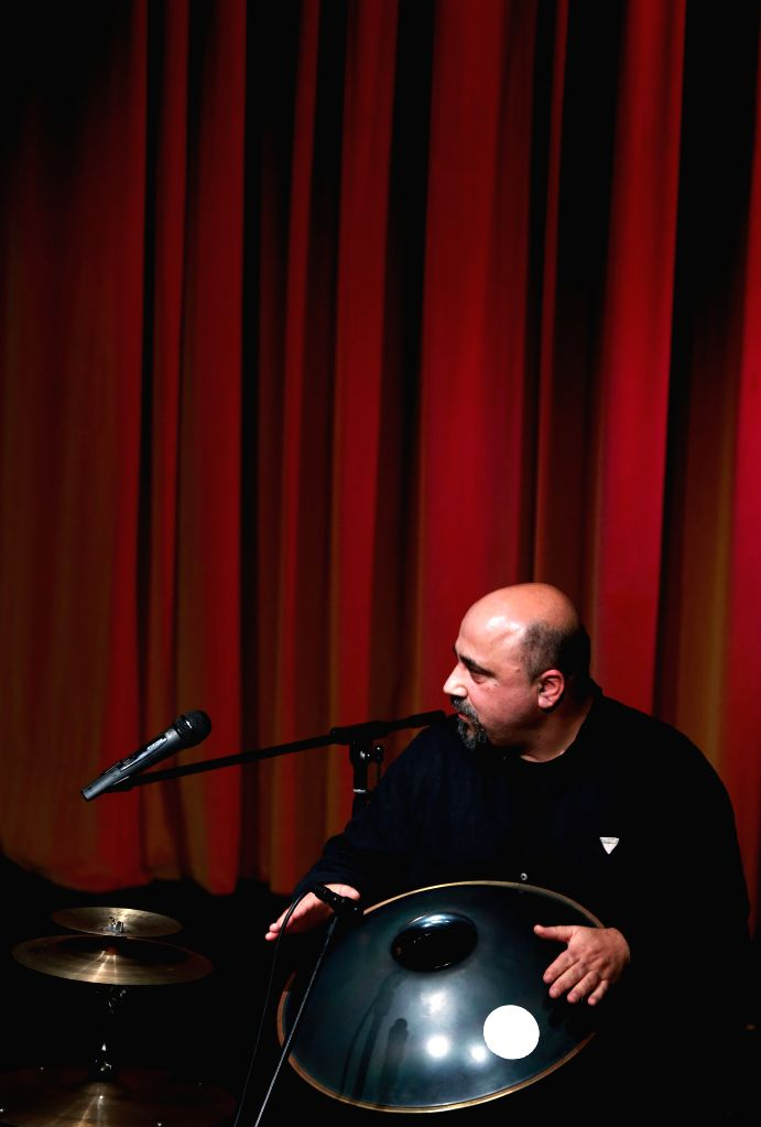 Omri Hason from the Kedem Ensemble performs at the International Theater in Frankfurt, Germany, on Jan. 16, 2016. Omri Hason is an Israeli percussionist and ...