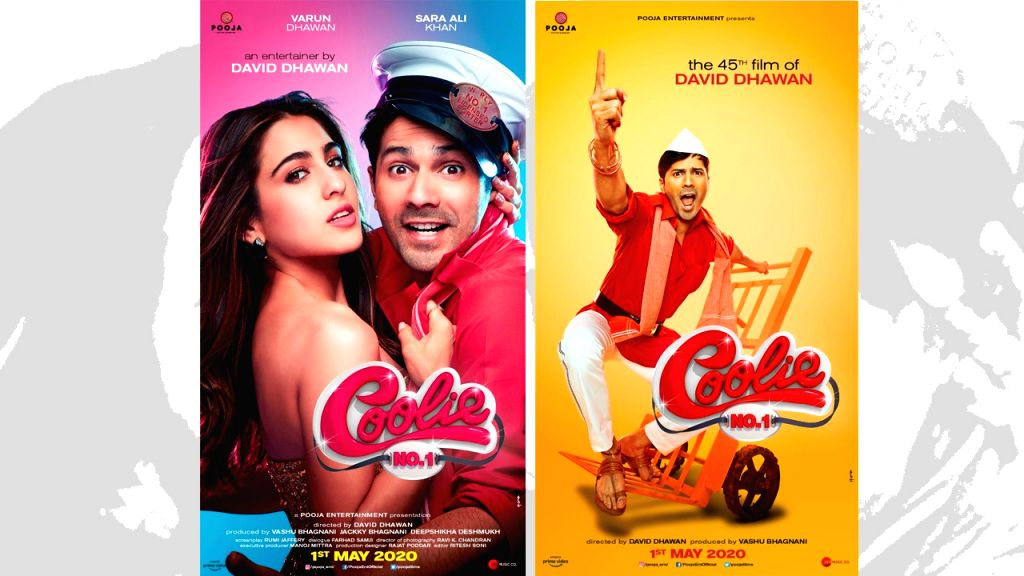 """On Sara Ali Khan's 24th birthday on Monday, the makers of """"Coolie No 1"""" unveiled its first look with actor Varun Dhawan and Sara promising a fresh edge to the 1995 remake. - Varun Dhawan and Sara Ali Khan"""