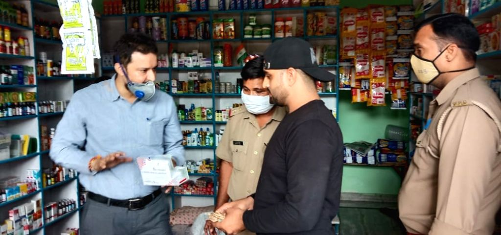 On the instruction of DM, drug inspector raids and seals medicines worth Lakhs of rupees.